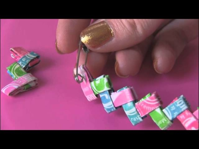 DIY: Candy Wrapper Link Jewelry. [[Starburst Bracelet]]