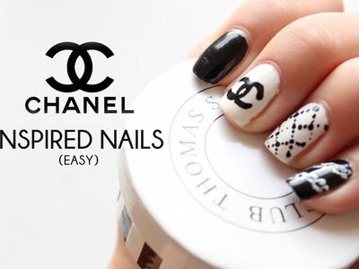 DIY Chanel inspired nail art tutorial