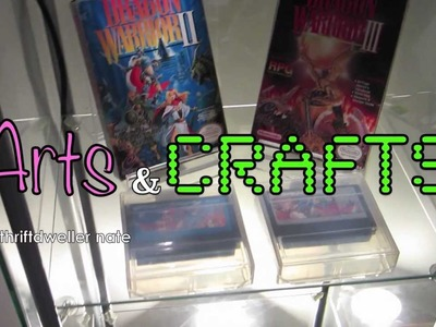 DIY Display Stands - Thriftdweller Arts and Crafts! Nintendo PS2 Playstation