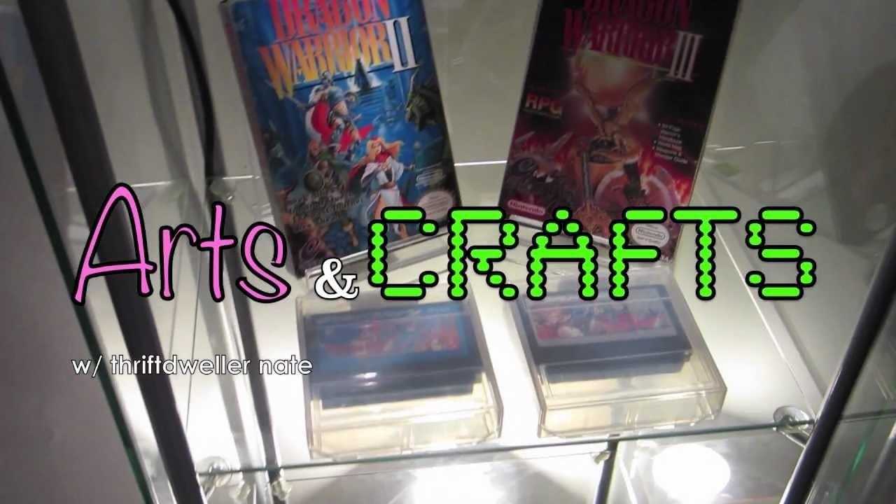 DIY Display Stands - Thriftdweller Arts and Crafts! Nintendo PS2 Playstation