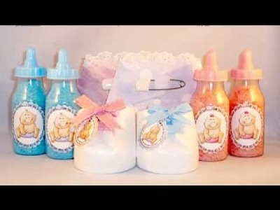 DIY do it yourself baby shower decorations