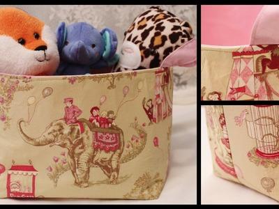 DIY Fabric Storage Basket - Whitney Sews