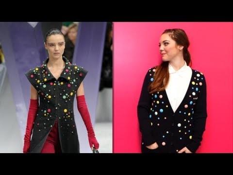 DIY Fashion, Add Gems to a Cardigan Like Chanel, Fab Flash