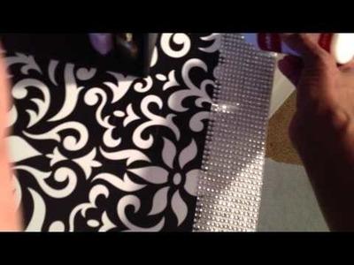DIY ~ Glitter Desk ~ Home Decor ~ by The Frugalnista!