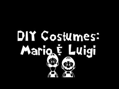 DIY Halloween Mario and Luigi Costumes - Easy & Fast
