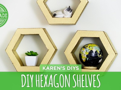 DIY Hexagon Shelves from Cardboard - HGTV Handmade