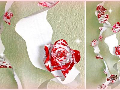 DIY Paper Decorations: Pretty Flower Swirls!