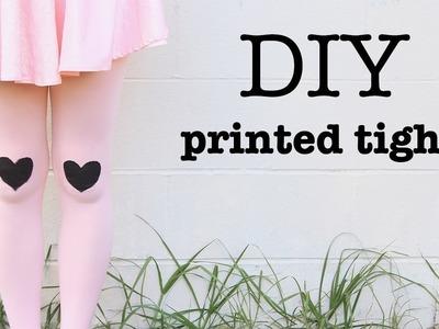 DIY Printed Tights