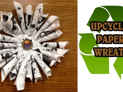 DIY: Recycled Book Pages Wreath | thecreativelady