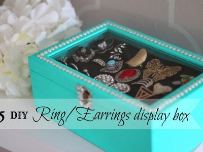 DIY Rings.Earrings Display box - ONLY $5 !! (Dollar Store craft)
