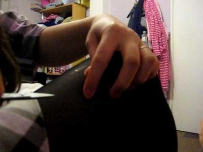 DIY ripped tights TUTORIAL