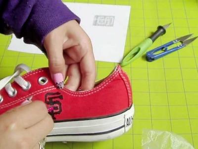 DIY SF Giants shoes