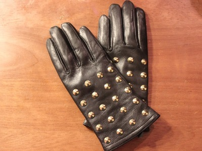 DIY Studded Leather Gloves #DIYGawd