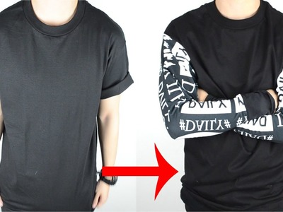 DIY: T-shirt to Long Sleeve Tee Tutorial