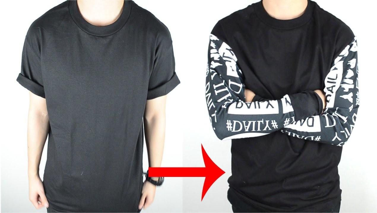 DIY: T-shirt to Long Sleeve Tee Tutorial