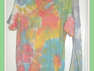 DIY Tie-Dye T-Shirts | How To | Tutorial.How to Tie Dye Using Acrylic Paints