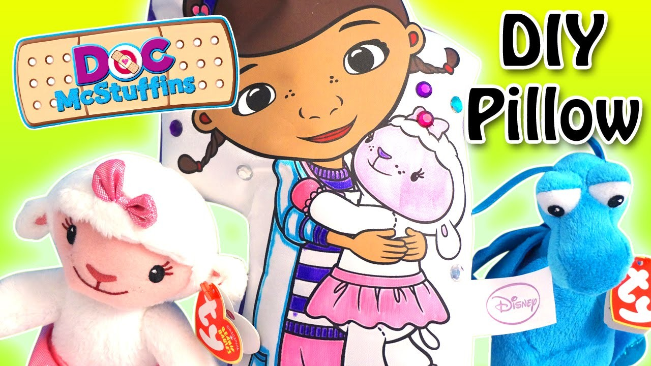 Doc McStuffins - Color N' Style Doc & Friend DIY Pillow with Lambie and Stuffy! - Disney Jr.