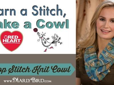 Drop Stitch Knit Cowl
