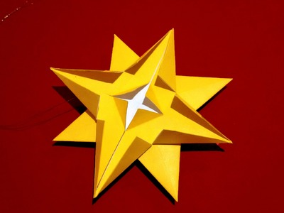 Easy 3d paper Star - ornament. House decor. DIY STAR for table and wall decoration
