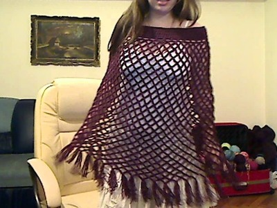 Easy to crochet poncho using Yolanda's tutorial