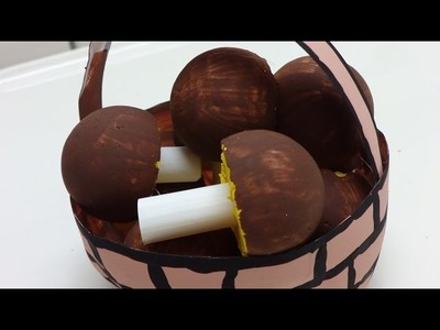 Fun Crafts for Kids: Basket with Mushrooms