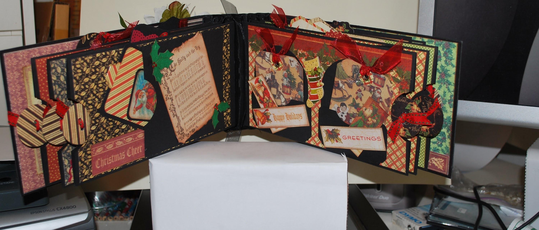 Graphic45 Christmas Emporium Mini Scrapbook Album