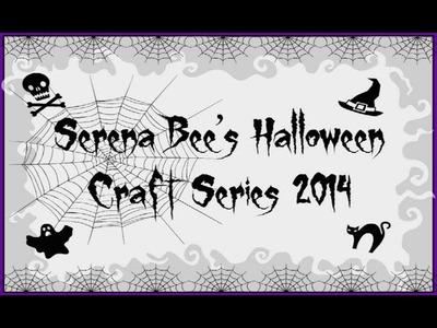 Halloween Mini Album Tutorial | Serena Bee's Halloween Craft Series #4