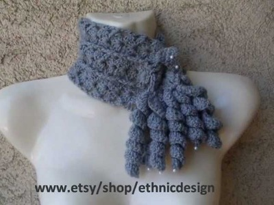HOW CROCHET  FREEFORM COWL SCARF  PATTERN 22