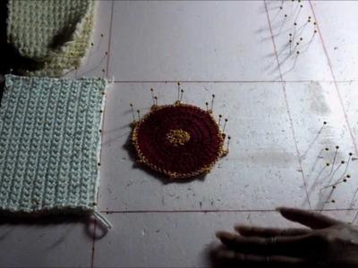 How to Block Crochet Pieces