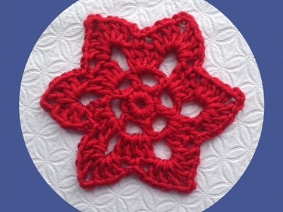 How to Crochet a Six Pointed Star Motif Pattern #14  │ by ThePatterfamily