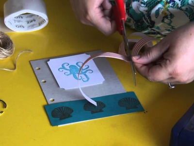 How to Decorate a Scrapbook Cover With a Nautical Theme : Scrapbooking & Other Crafts