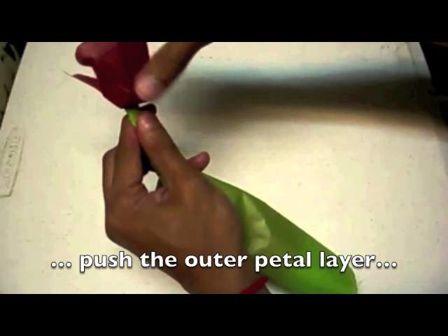 How To Make A Paper Tissue Flower, Origami Rose