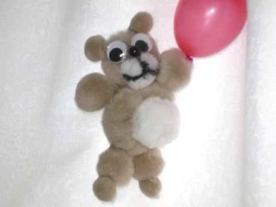 How to make a pom pom teddy bear - EP
