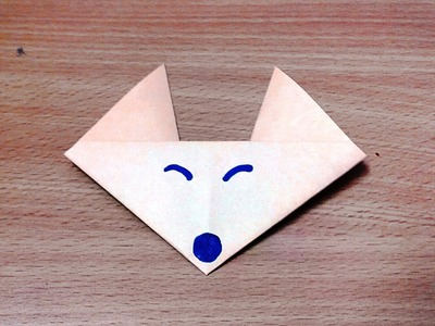 How to make an origami fox face step by step.
