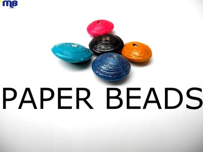 How to paint paper beads-Tutorial