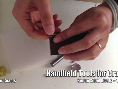 How to use handheld tools to set up 10mm rivets -- leather craft, sewing
