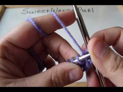 Knitting: Continental Method: Norwegian Purl
