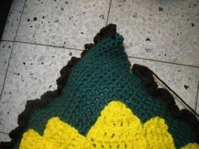 Large Sunflower Pillow pt 5 - Crochet tutorial