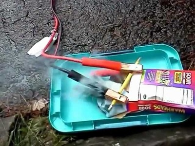 Make A Campfire With Jumper Cables And A Pencil