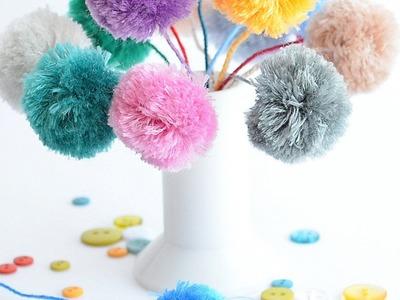 Make a Pom Pom Dandelion - DIY Crafts - Guidecentral