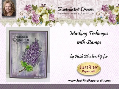 Masking Technique with Stamps by Heidi Blankenship