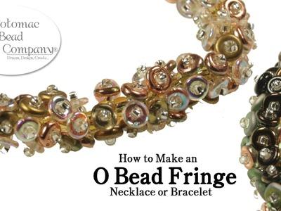 O Bead Fringe Necklace or Bracelet