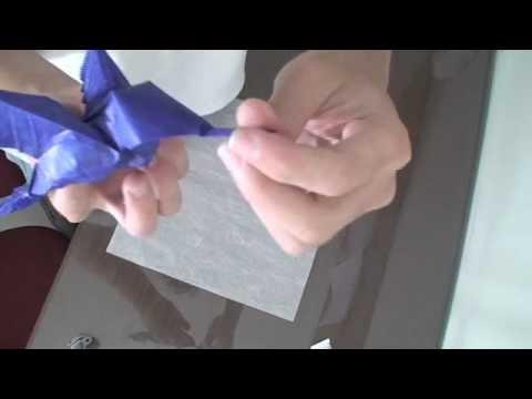 Preparing a Origami Paper (Thai unryu paper. Read Description)
