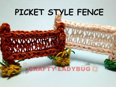 Rainbow Loom PICKET STYLE FENCE Advanced Charm Tutorials by Crafty Ladybug. Wonder Loom, DIY LOOM