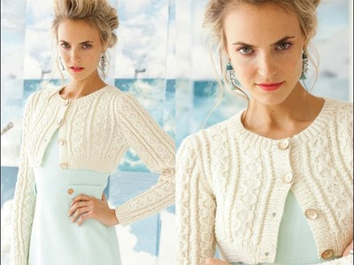 #1 Cropped Cable Cardi, Vogue Knitting Early Fall 2013