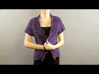 #11 Eyelet Front Vest, Vogue Knitting Holiday 2008