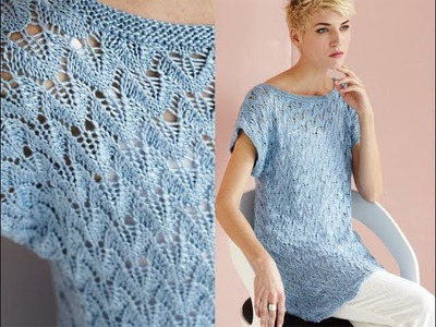 #11 Wing Lace Tunic, Vogue Knitting Spring.Summer 2014
