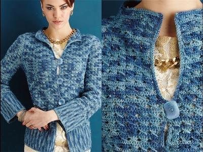 #14 Tunic-Length Jacket, Vogue Knitting Crochet 2014