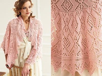 #16 Semi Circle Shawl, Vogue Knitting Spring.Summer 2012
