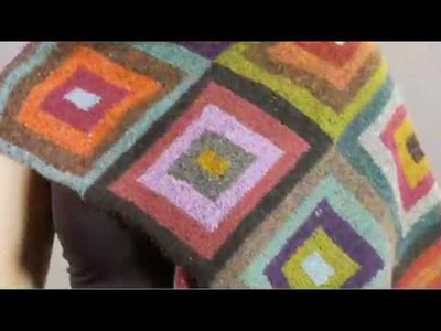 #19 Squares Scarf, Vogue Knitting Winter 2008.09